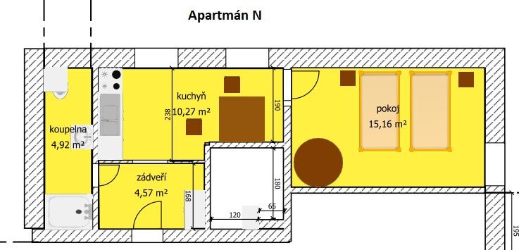 Apartmán N nákres